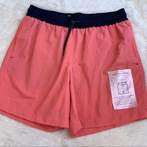 VENROY Sydney Men's Coral Navy Swim Shorts
